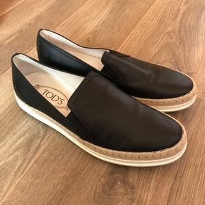 Tods Leather Slip On Sneakers